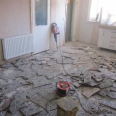 Removal of floor tiles residential property Newcastle