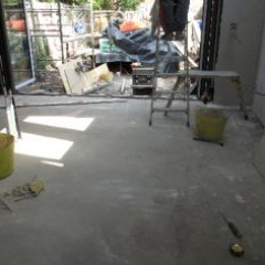 Kitchen area before installation of Microscreed