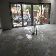 Floor surface prior to polymer screed installation