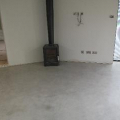 Micro screed waxed concrete flooring Newcastle