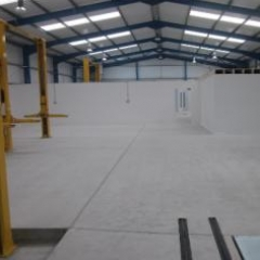 Dust free concrete floor preparation North East England