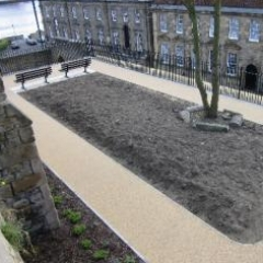 Permeable resin bound paving North Shields