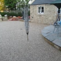 Gravel paving screed decorative surfacing County Durham