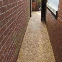 Resin bound pathway surface Sunderland Tyne and Wear