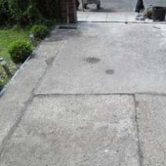 Concrete driveway substrate prior to installation