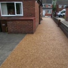 Resin exteriors gravel floor screeds Roker Sunderland