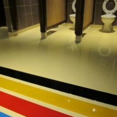 Commercial designer resin flooring