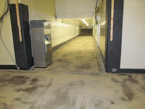 Epoxy floor screed railway pedestrian subway London