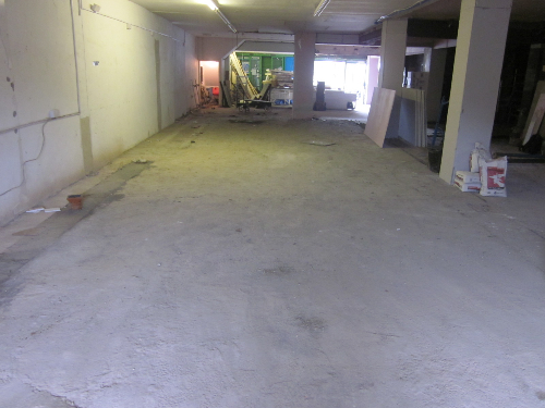 Concrete substrate before resin floor installation