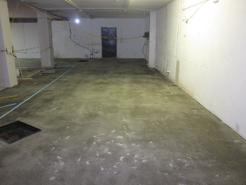 Concrete substrate cold store Westgate road Newcastle