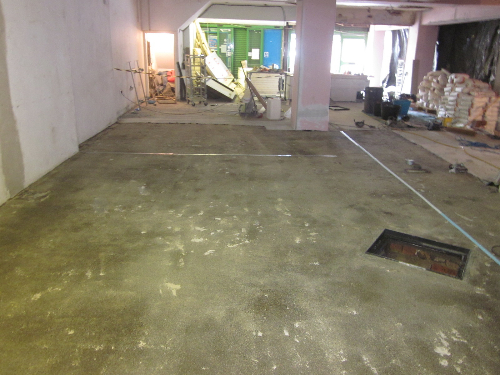 Primed concrete substrate halal meats Newcastle