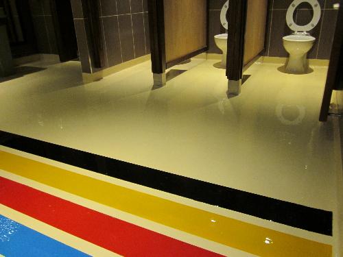 Commercial designer resin flooring