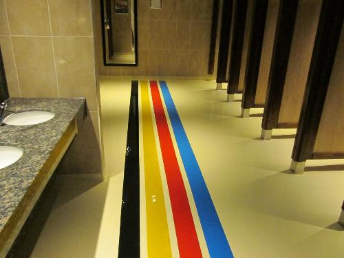 Seamless epoxy resin floors